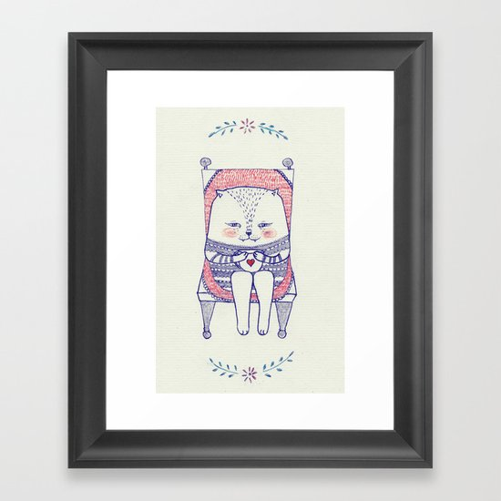 my favourite chair Framed Art Print