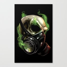 Skull/Gas mask 12 Canvas Print
