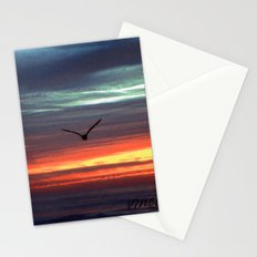 Black Gull by nite Stationery Cards