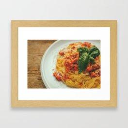 Tagliatelle bolognese Framed Art Print