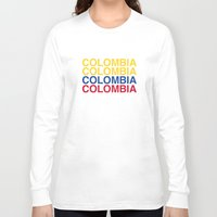 colombia Long Sleeve T-shirts featuring COLOMBIA by eyesblau