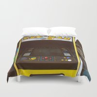 pacman Duvet Covers featuring PacMan by Brieana