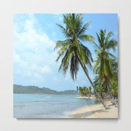 The Caribbean beach 01 Metal Print