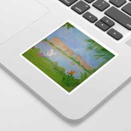 Habitat of Snowy Egret Sticker
