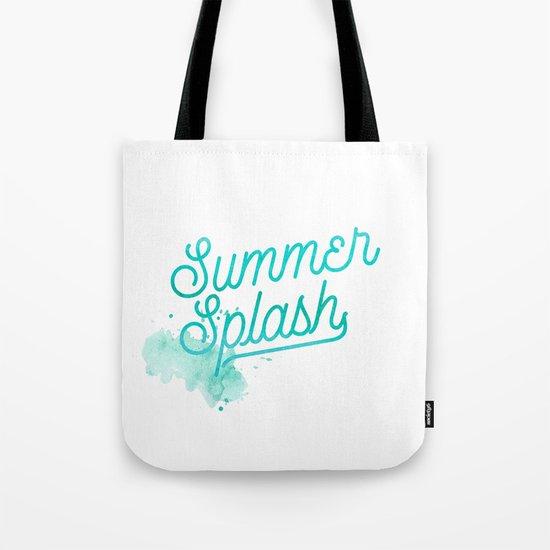 Summer splash- Typography - Holiday Beach Maritime Fun Water Tote Bag