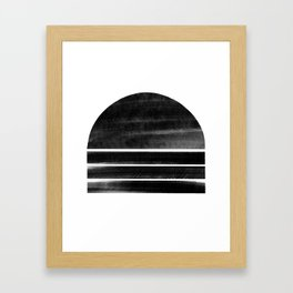 black and white shapes Framed Art Print