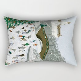 Ice skating pond Rectangular Pillow