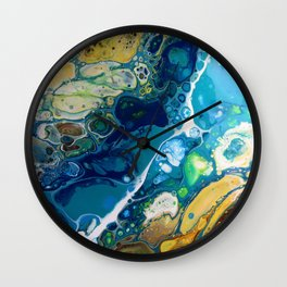 Where the Rivers Flow Wall Clock