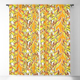 Heliconia Rostrata / Lobster Claw, yellow, orange  & white, Blackout Curtain