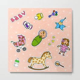 For Mommy stickers Metal Print