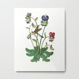 Dragonfly botanical Metal Print