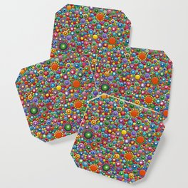 Colorful dotted Canvas 2 by Mandalaole- Spring Coaster