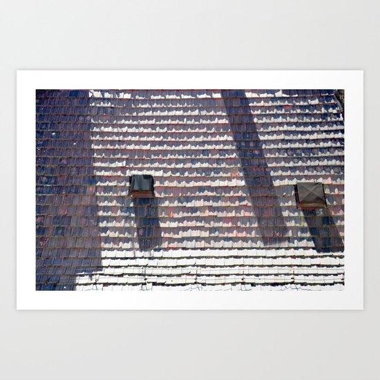 dazzling rooftops Art Print