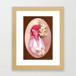 Tasmit & Lilies Framed Art Print