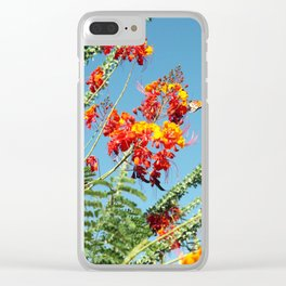 Ocotillo Blooms Clear iPhone Case