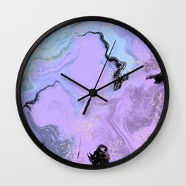 Lavender Mint Marble Wall Clock