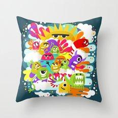 Monster Sunshine Friends Throw Pillow