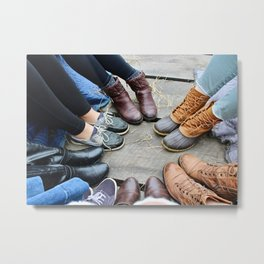 Featuring Fall Footwear Metal Print