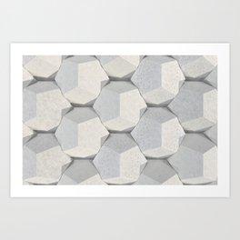 Pattern of concret hexagonal elements Art Print