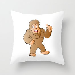 Bigfoot cartoon Throw Pillow