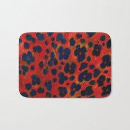 Red Leopard Print Bath Mat