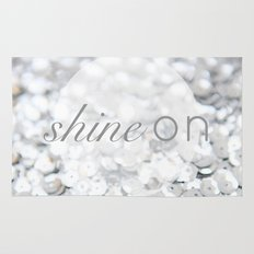 Shine ON Typography Print Rug