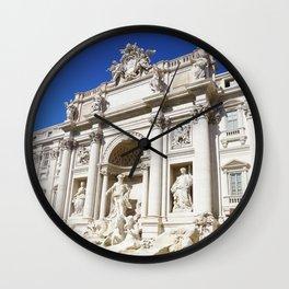 Make a Wish: Trevi Fountain in Rome, Italy Wall Clock