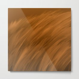 Furry 4 Copper Brown - Abstract Art Series Metal Print