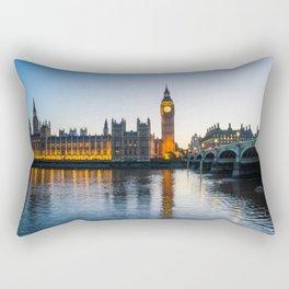 Big Ben During Sunset | London England Europe Cityscape Night Photography Rectangular Pillow