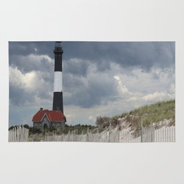 Fire Island Light From The Beach Rug