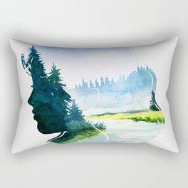 Natural beauty. Rectangular Pillow