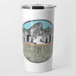 Jackson Hole circle illustration Travel Mug