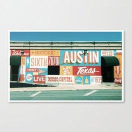 Austin Mural Tour #1 Canvas Print
