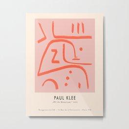 Modern poster Paul Klee - In Memoriam, 1938. Metal Print