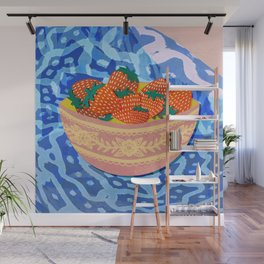 New Strawberries Wall Mural