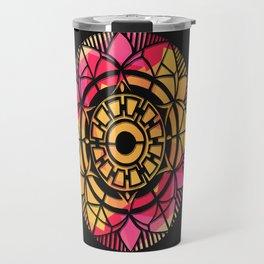 Mandala Black Line Travel Mug