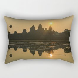 Angkor Wat Temple sunrise Rectangular Pillow
