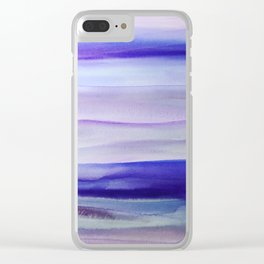 Purple Mountains' Majesty Clear iPhone Case