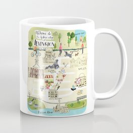 Irvington NY Map Coffee Mug