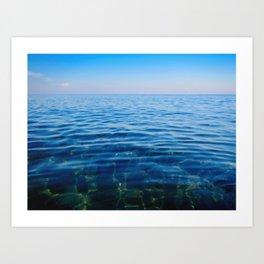 Blue beach coral Art Print