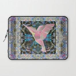 Romantic Boho Vintage Hummingbird Mandala Laptop Sleeve