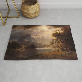 Estes Park Colorado 1869 By Albert Bierstadt | Reproduction Painting Rug