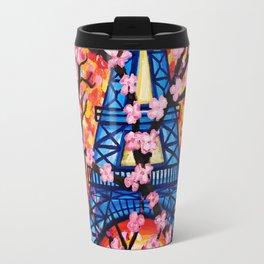 Paris Cherry Blossoms Travel Mug