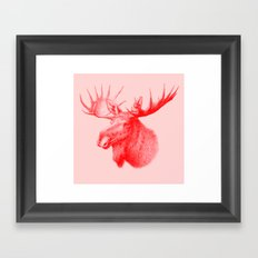 Moose red Framed Art Print