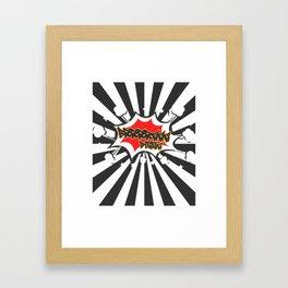 Bra Digga with Explosion Comic Style Club Sprechgesang Gang Framed Art Print