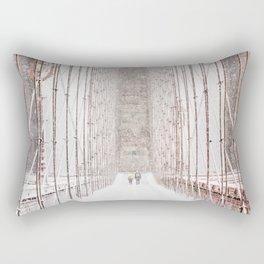 Brooklyn Bridge Snow Rectangular Pillow