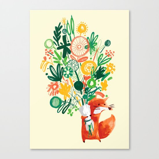 Flower Delivery Canvas Print