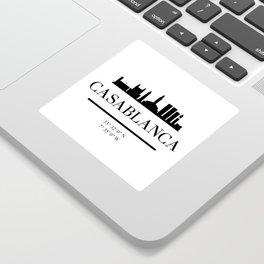 CASABLANCA MOROCCO BLACK SILHOUETTE SKYLINE ART Sticker