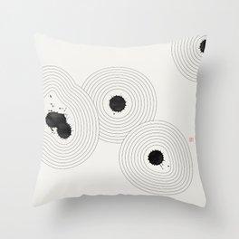 Accidental Zen Garden n°1 (West Meets East Series) Throw Pillow