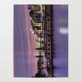 Berlin Purple Poster